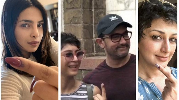 Indian elections 2019: Bollywood stars vote in Mumbai