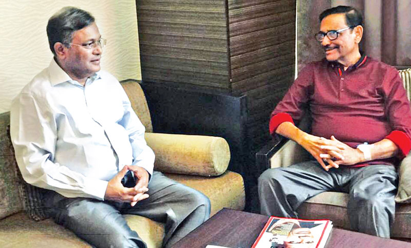 Information Minister Dr Hasan Mahmud meets Road Transport and Bridges Minister Obaidul Quader