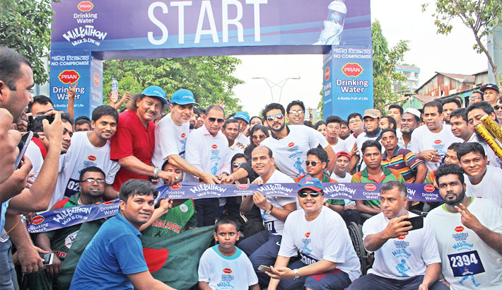 PRAN Drinking Water arranges walkathon
