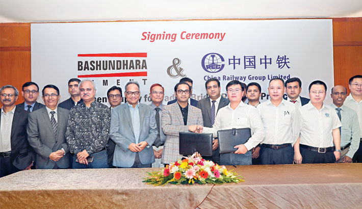 Bashundhara Group, CREC sign deal on cement supply