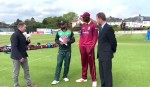 West Indies opt to bat, Campbell misses out with sore back