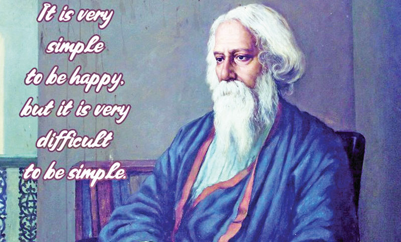 Tagore's Tryst with Flowering of Soul