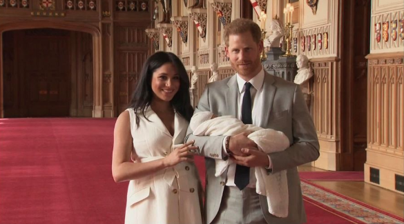 First pictures of Baby Sussex revealed