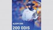 ICC congratulates Aleem Dar on completing 200 ODIs