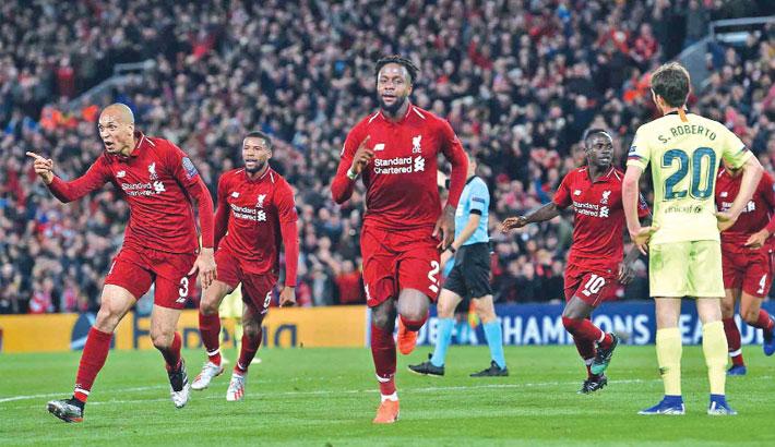 Liverpool leapfrog  Messi's Barcelona