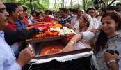 Nandi's funeral held at Sabujbagh Borodeshwari Kali Temple