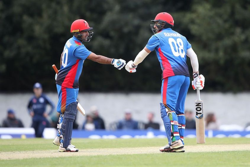 Rahmat century leads Afghanistan to rain-hit win over Scotland