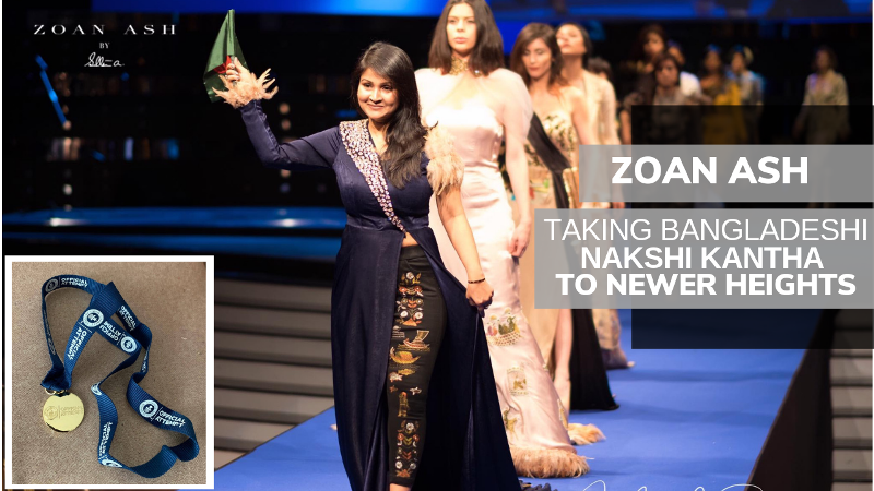 ZOAN ASH takes Bangladeshi Nakshi Kantha to new heights