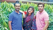 Tanvir, Shamol and Snigdha work together in Lal Ronger Kham