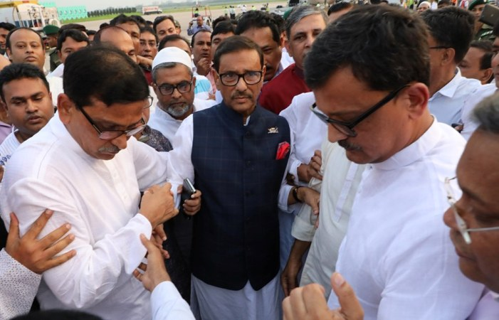 Obaidul Quader returns home
