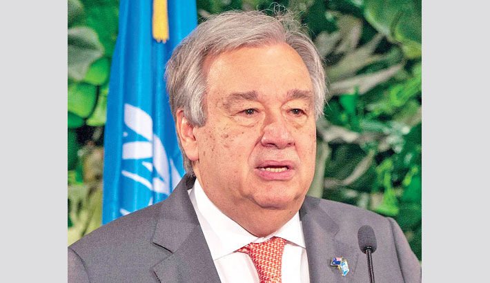 UN chief meets NZ mosque victims, decries online hate