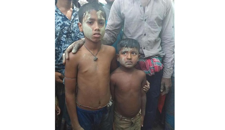 Two kids narrowly escaped from clutch of human traffickers