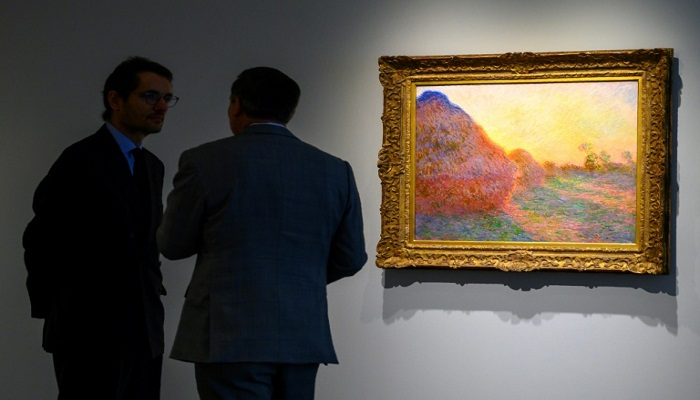 Painting from Haystacks series sets auction record for Monet