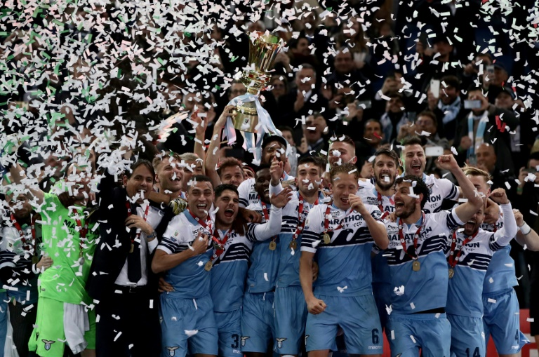 Lazio see off Atalanta to win seventh Coppa Italia