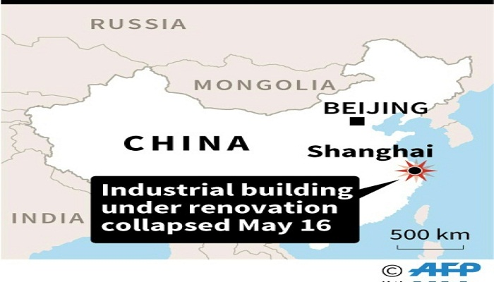 Nine trapped in Shanghai building collapse: govt