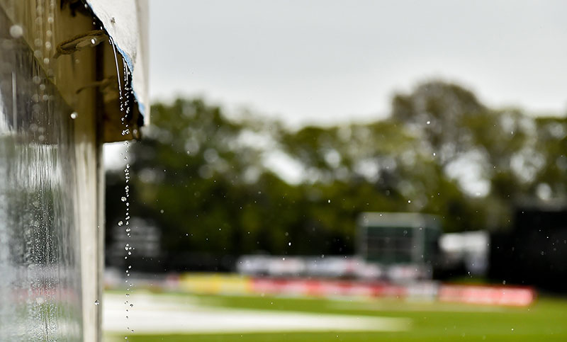 West Indies score 131-0 before rain stops play