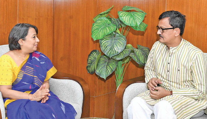 Indian High Commissioner Riva Ganguly Das calls on State Minister