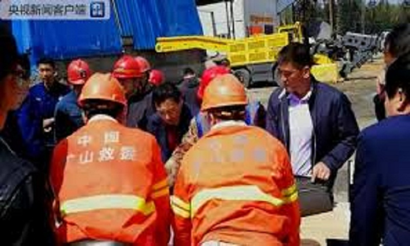 8 people trapped in flooded mine in China's northeast