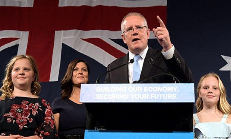 2019 Australia election: Morrison celebrates 'miracle' win