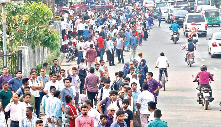 Sufferings mount  on city streets