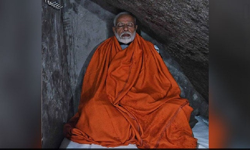Did PM Modi pray for poll victory in Kedarnath?