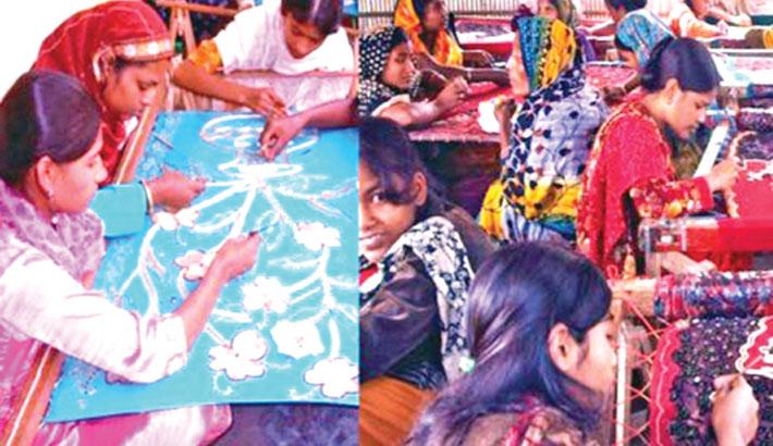 Artisans busy with ornamental stitching ahead Eid festival
