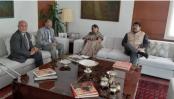 GM Quader meets Indian envoy