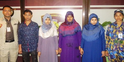Four-Rohingya-women-held-at-Dhaka-airport