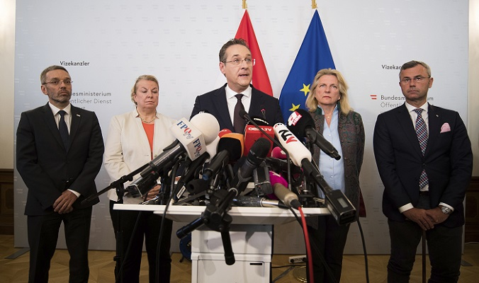 Austria's far-right Freedom Party ministers all resign amid scandal