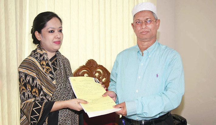 Rumeen gets  BNP nomination  for reserved women seat