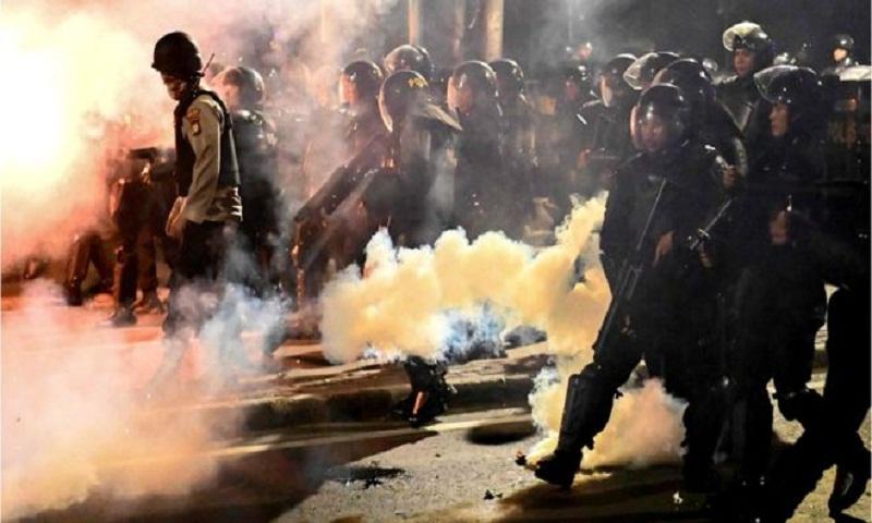 Indonesia arrests dozens after violent post-election clashes