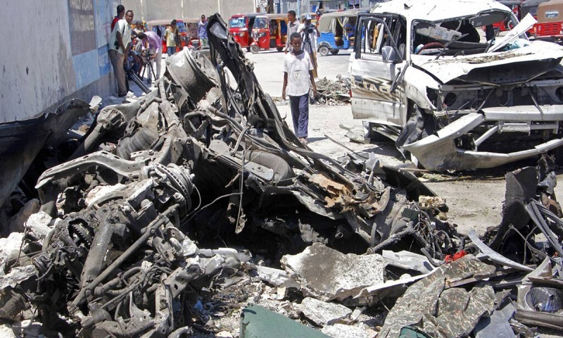 Suicide car bomb kills at least 9 in Somalia's capital