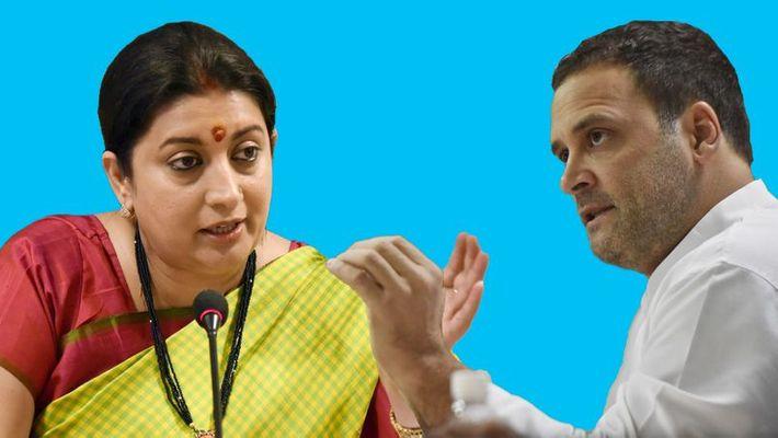 Rahul Gandhi in tough battle with Smriti Irani in Amethi