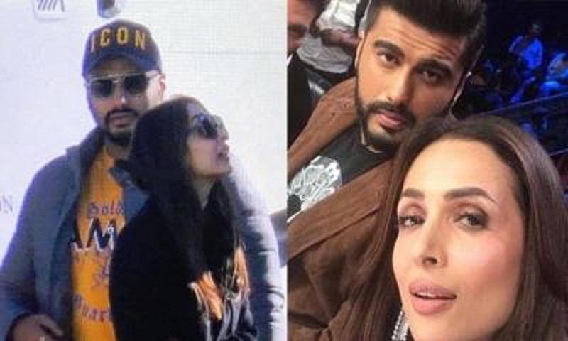 Arjun Kapoor wraps his arm around Malaika Arora, rumoured couple is coy no more