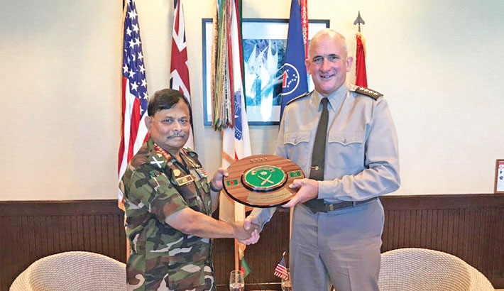 Army chief meets US army pacific commander