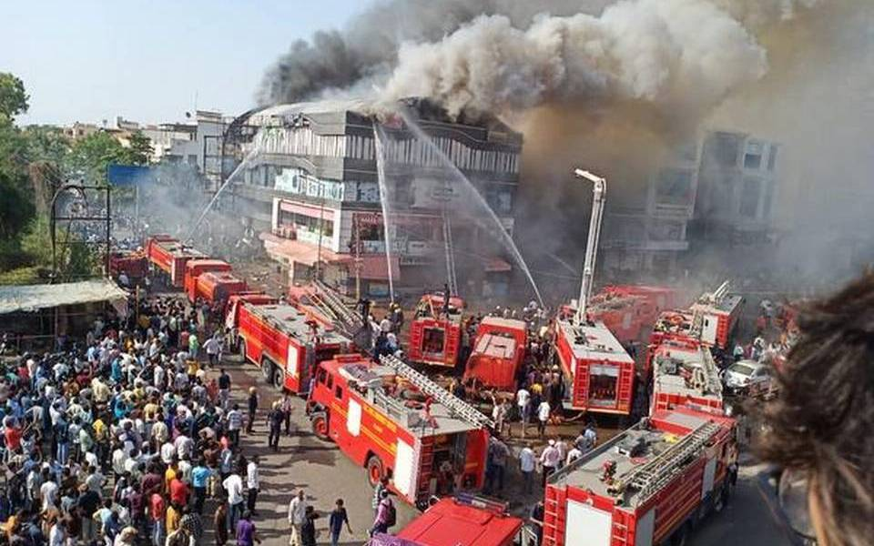 Coaching centre fire kills 19 students in India's Gujarat (Video)