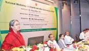 Education Minister Dipu Moni speaks