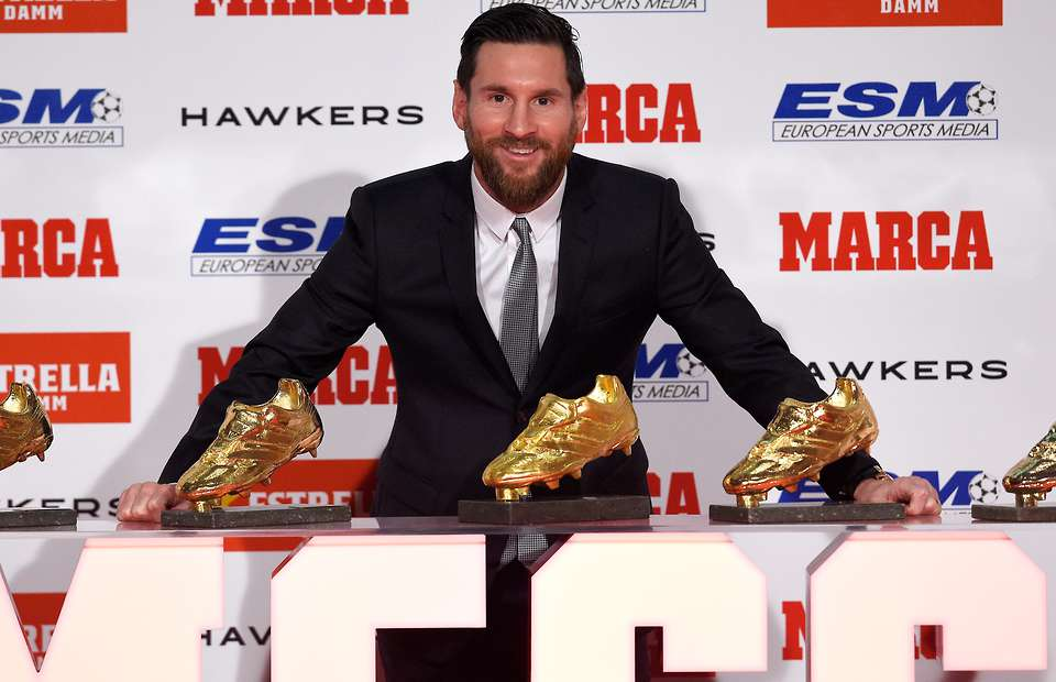 Messi wins his sixth European Golden Shoe