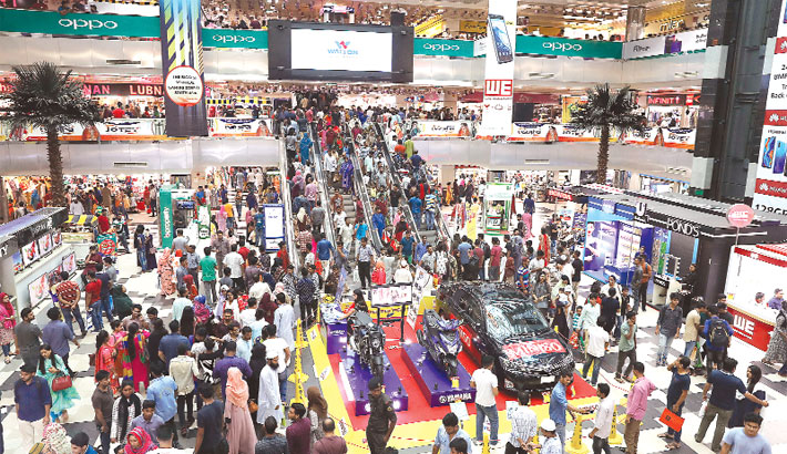 Eid shopping frenzy at city malls