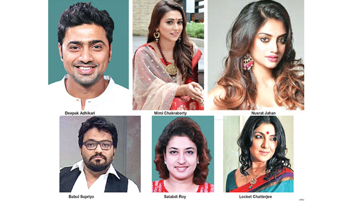Tollywood celebrities Dev, Mimi, Nusrat, Locket, Satabdi win in Lok Sabha election