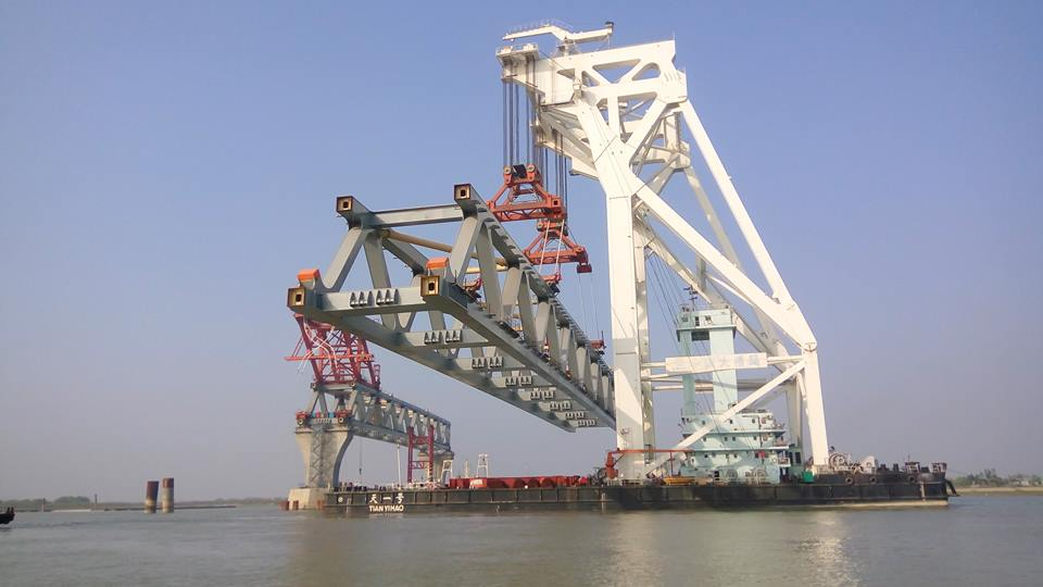 13th span of Padma bridge installed