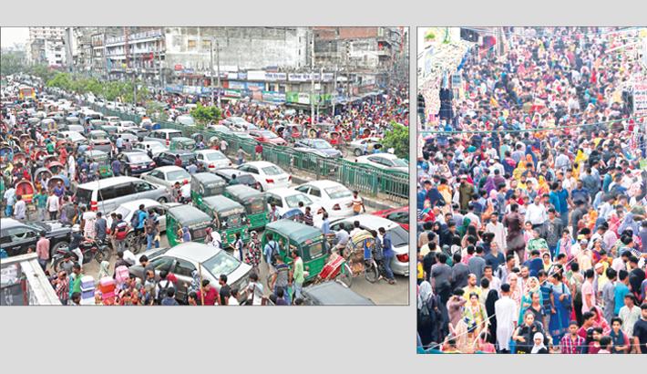 Eid Shoppers Gridlocked