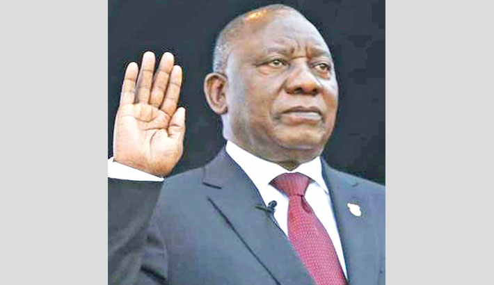 Ramaphosa sworn in as  South African president