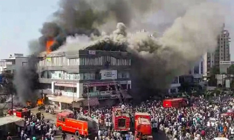 India coatching centre fire: Toll climbs to 22, coaching class owner held