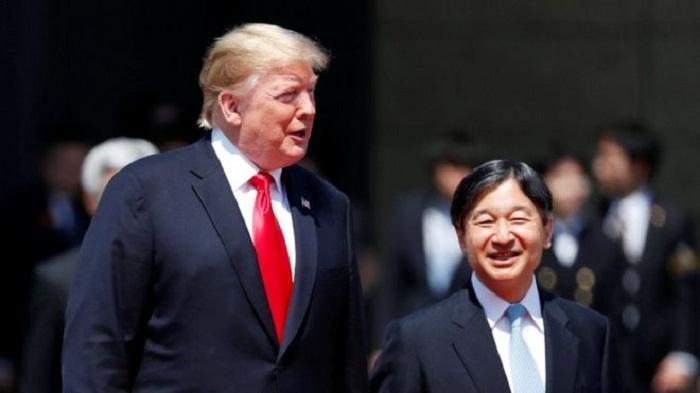 US president meets Japan's Emperor Naruhito