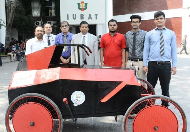 IUBAT's Mechanical Engineering students build a solar-electric car