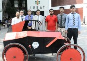 IUBAT's Mechanical Engineering students build a solar-electric car