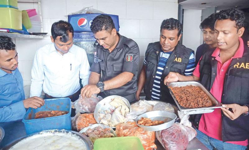 A mobile court of RAB conducted raids on several hotels and restaurants