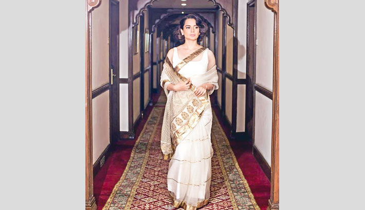 Kangana graces PM Modi's swearing-in ceremony in a retro look