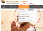 BJP website hacked, shows beef dishes